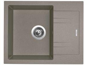 Granitový dřez Sinks LINEA 600 N Truffle  + Čistící pasta pro nerezové dřezy SINKS