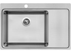 Nerezový dřez Sinks BLOCKER 780 V 1mm kartáčovaný levý  + Čistící pasta pro nerezové dřezy SINKS