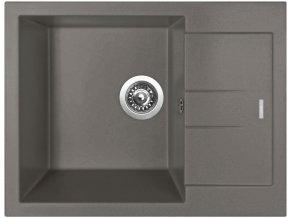 Granitový dřez Sinks AMANDA 650 Truffle  + Čistící pasta pro nerezové dřezy SINKS