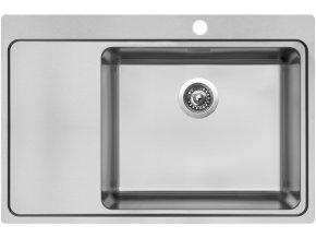Nerezový dřez Sinks BLOCKER 780 V 1mm kartáčovaný pravý  + Čistící pasta pro nerezové dřezy SINKS