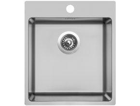 Nerezový dřez Sinks BLOCKER 450 V 1mm kartáčovaný  + Čistící pasta pro nerezové dřezy SINKS