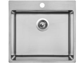 Nerezový dřez Sinks BLOCKER 550 V 1mm kartáčovaný  + Čistící pasta pro nerezové dřezy SINKS