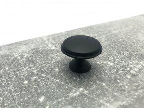 Nabytkova knopka Pence cerna matna 5
