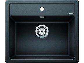 Granitový dřez Blanco LEGRA 6 černý 526084  + Sanitární silikon + Designové masivní dřevěné krájecí prkénko z akácie