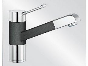 Kuchyňská vodovodní baterie Blanco ZENOS-S silgranit černá/chrom lesk 526165