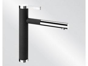 Kuchyňská vodovodní baterie Blanco LINEE S silgranit černá/chrom lesk 526171