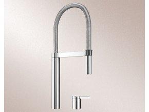 Kuchyňská vodovodní baterie Blanco CULINA-S DUO Nerez masiv hedvábný lesk 519783