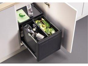 Odpadkový koš Blanco BOTTON Pro 45/2 s automatickým vysunutím 517468