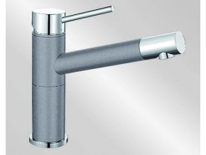 Blanco ALTA Compact Silgranit-look dvoubarevná aluminium/chrom