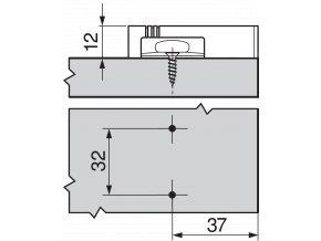 Adapter BLUMOTION krizovy sedy 970.1501