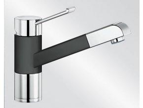 Kuchyňská vodovodní baterie Blanco ZENOS-S Keramika-look černá/chrom lesk 517829