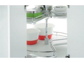 Rohová otočná police bílé plné dno (Orientace,rozměr,barva 820 mm)