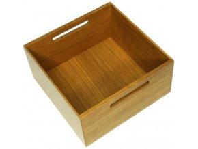 Holzbox quadratisch