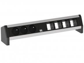 29523 2 elektro zasuvka bachmann desk 1 3x 230v 4x uziv modul 902 007