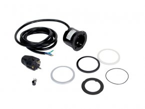 Elektro zásuvka Bachmann PIX 230V bílá, černá, im. nerez (Zakončení kabelu Vidlice do zásuvky)