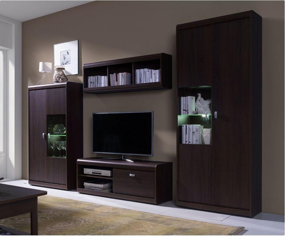 Nábytek do obývacího pokoje Vanda v barvě čokoláda (hnědá)