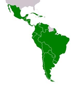 Mapa Latinské Ameriky