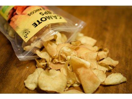 BIO batátové chipsy svačinka