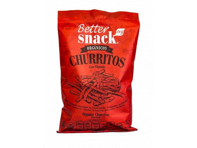 kukuřičné chipsy s chipotle %22churritos%22