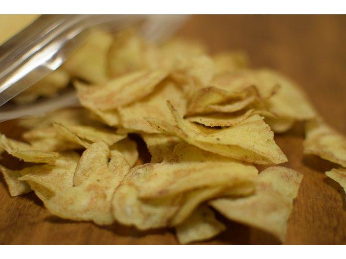 """BIO banánové chipsy """"chifles"""" s chilli papričkou rocoto - jemně pikantní - PERU"""