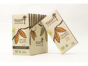 Hořká čokoláda 70% s kakaovými boby BIO ručně vyrobená