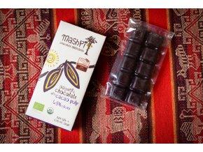 BIO čokoláda hořká 65% plněná kakaovou dužinou - řemeslná - EKVÁDOR