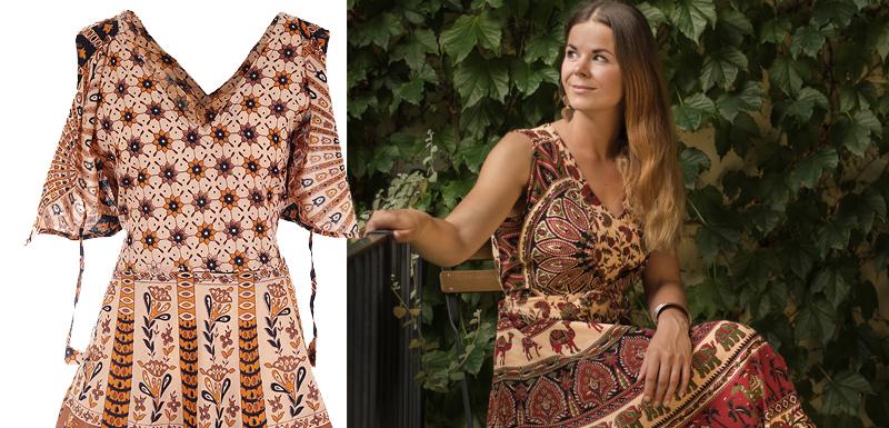 Péče o bavlněné šaty z Indie