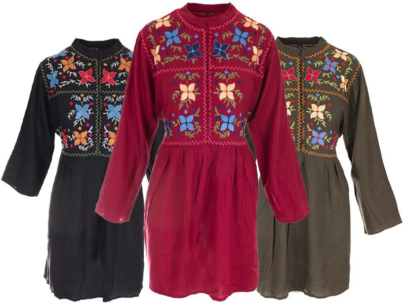 Vyšívané hippie šaty