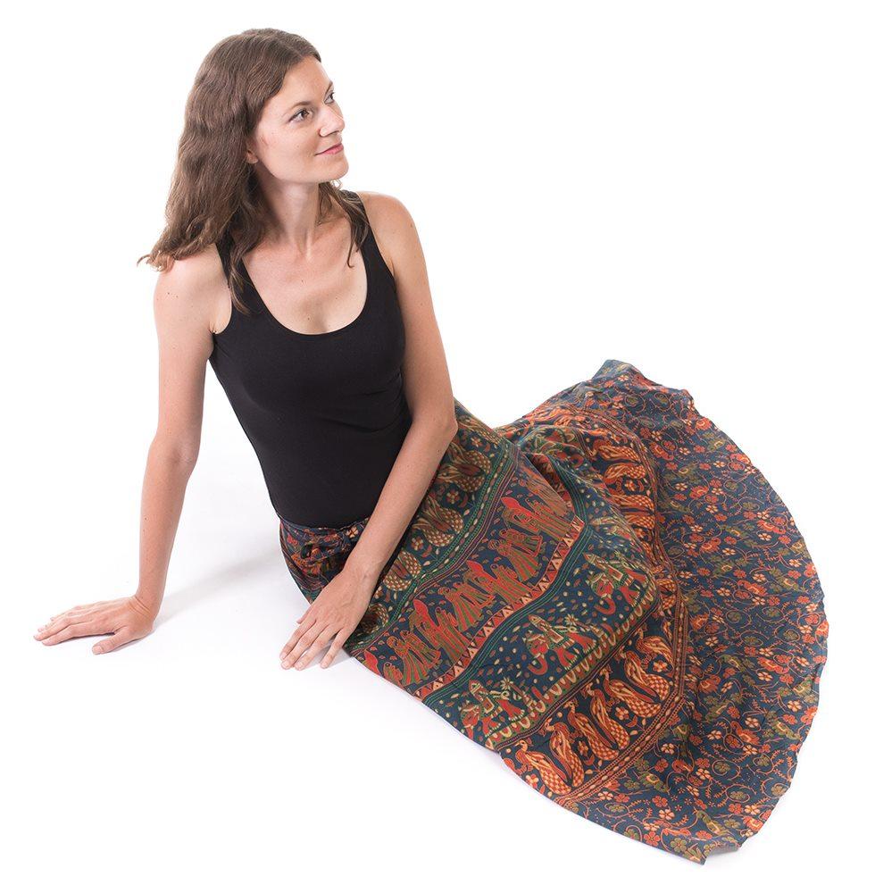 bavlněná zavinovací sukně