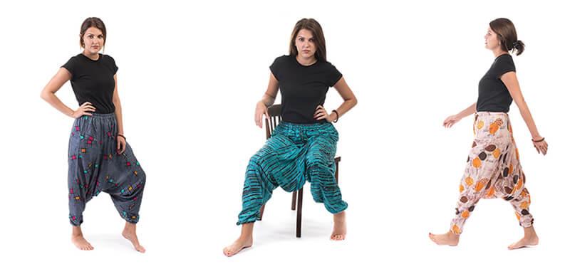originální harémové kalhoty