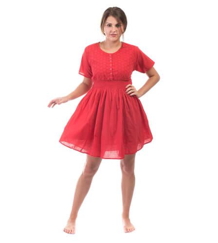Bavlněné šaty červené