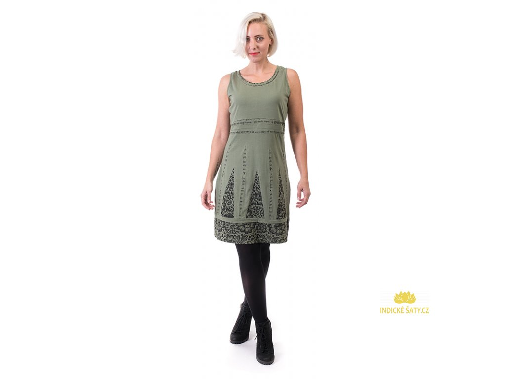 Originální krátké zelené šaty sanskritt7 produkt