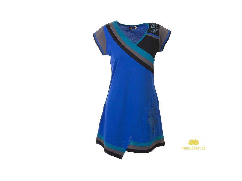 Krátké sportovní šaty s krátkým rukávem modré
