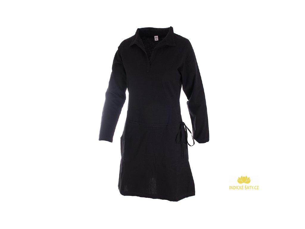Košilové šaty černé