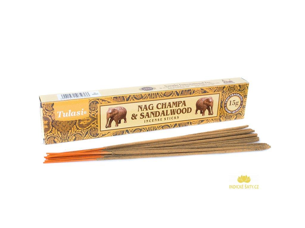 Vonné tyčinky Nag Champa & Santalové dřevo