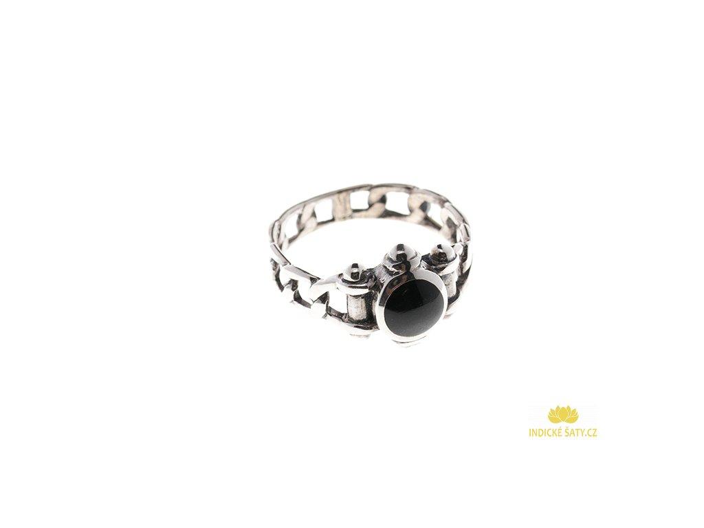 Originální stříbrný prsten Steampunk