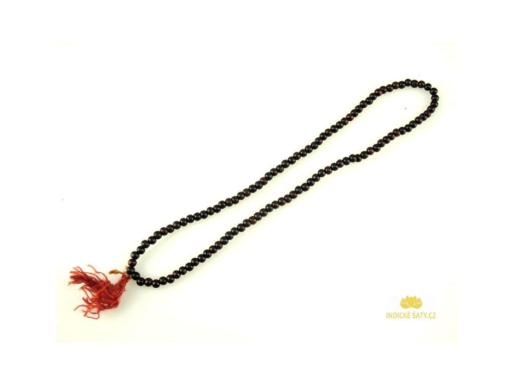 japa mala růženec mini hnědočervený