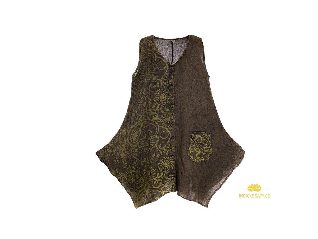 Propínací šaty z bavlny želvovinové