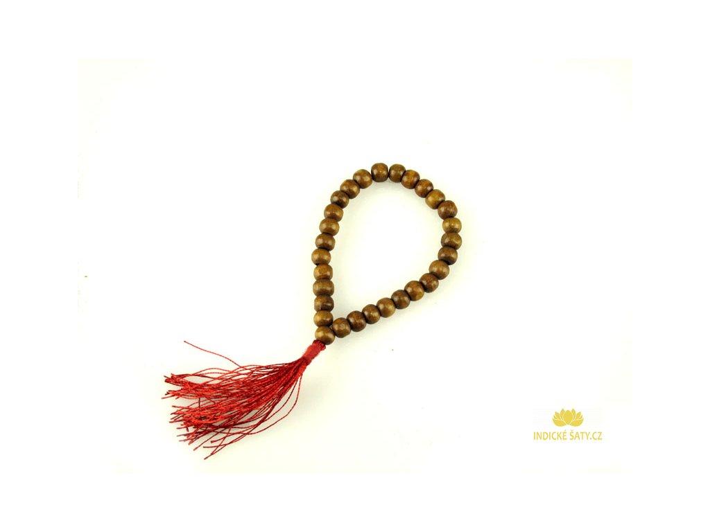 Shamballa náramek s červeným střapcem