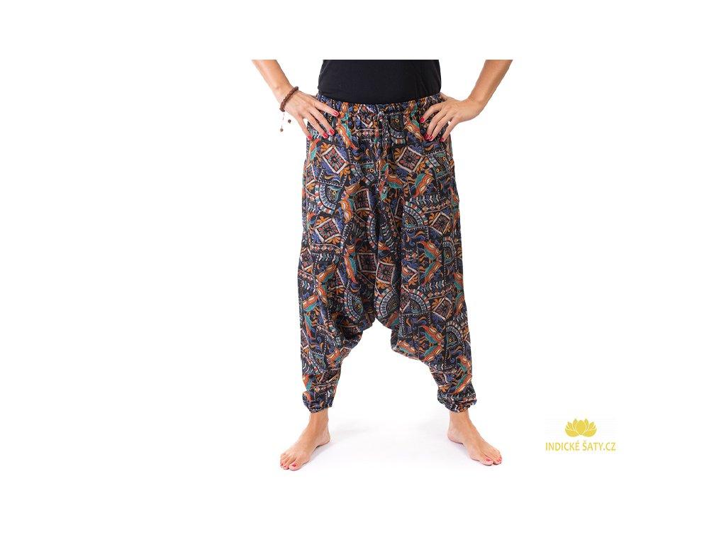 Harémové kalhoty orientální design černé