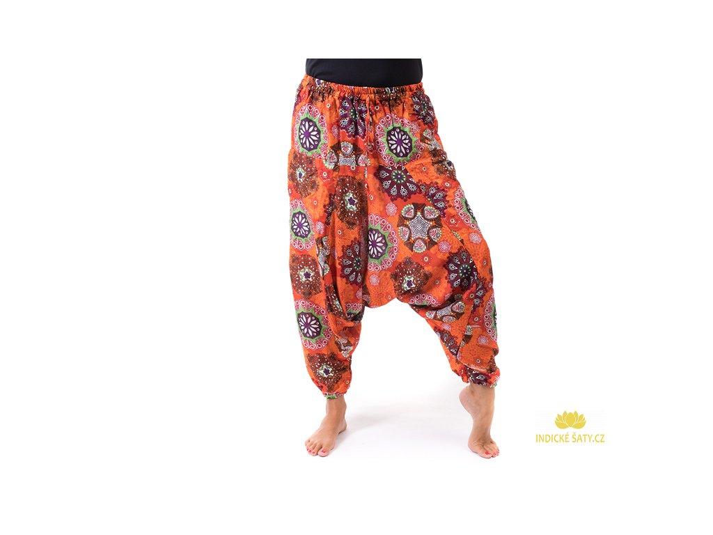Pohodlné harémky Mandaly oranžové
