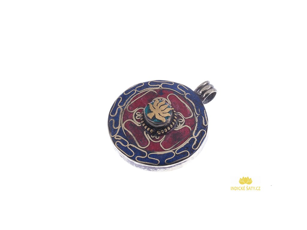 Ochranný tibetský amulet Lotos