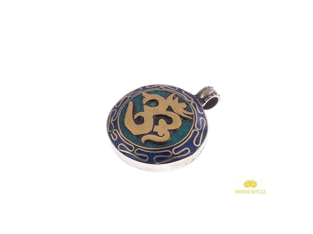 Ochranný tibetský amulet Óm