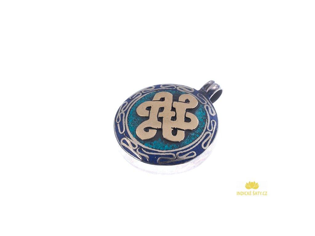 Ochranný tibetský amulet Nekonečný uzel
