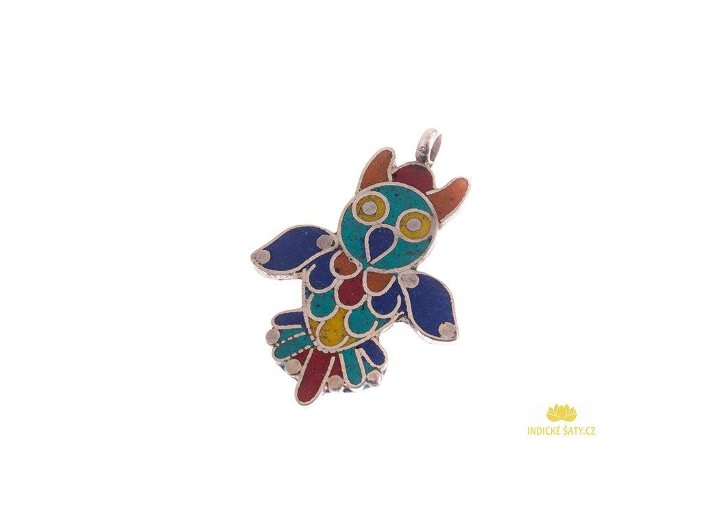 Originální tibetský amulet Sovička