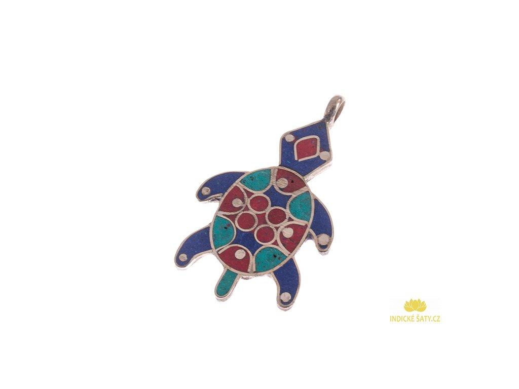 Originální tibetský amulet Želvička