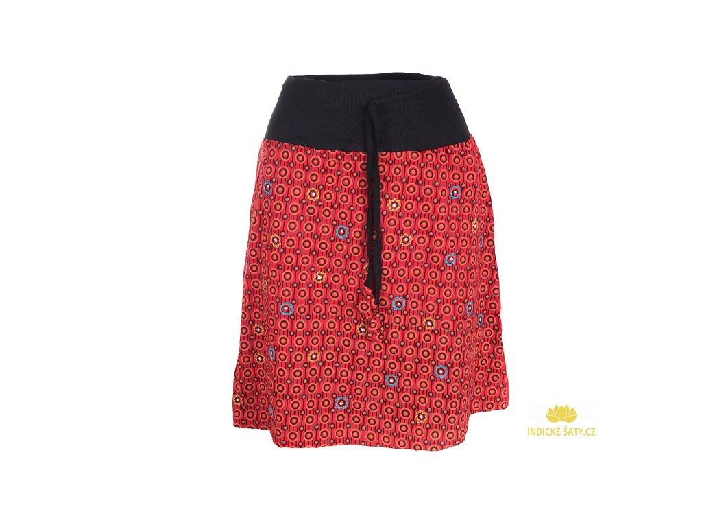 Krátká bavlněná sukně červenákrátká bavlněná sukně