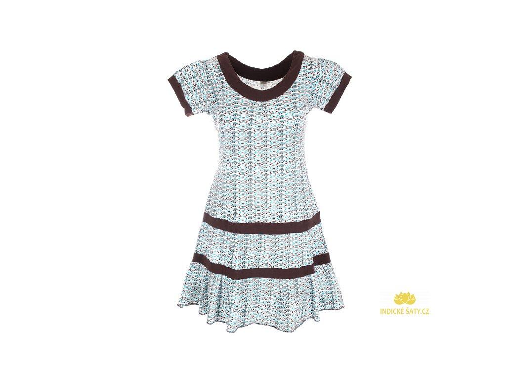 krátké světlé šaty z organické bavlny