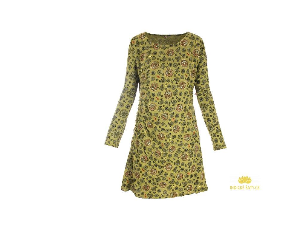 Originální šaty z organické bavlny zelené