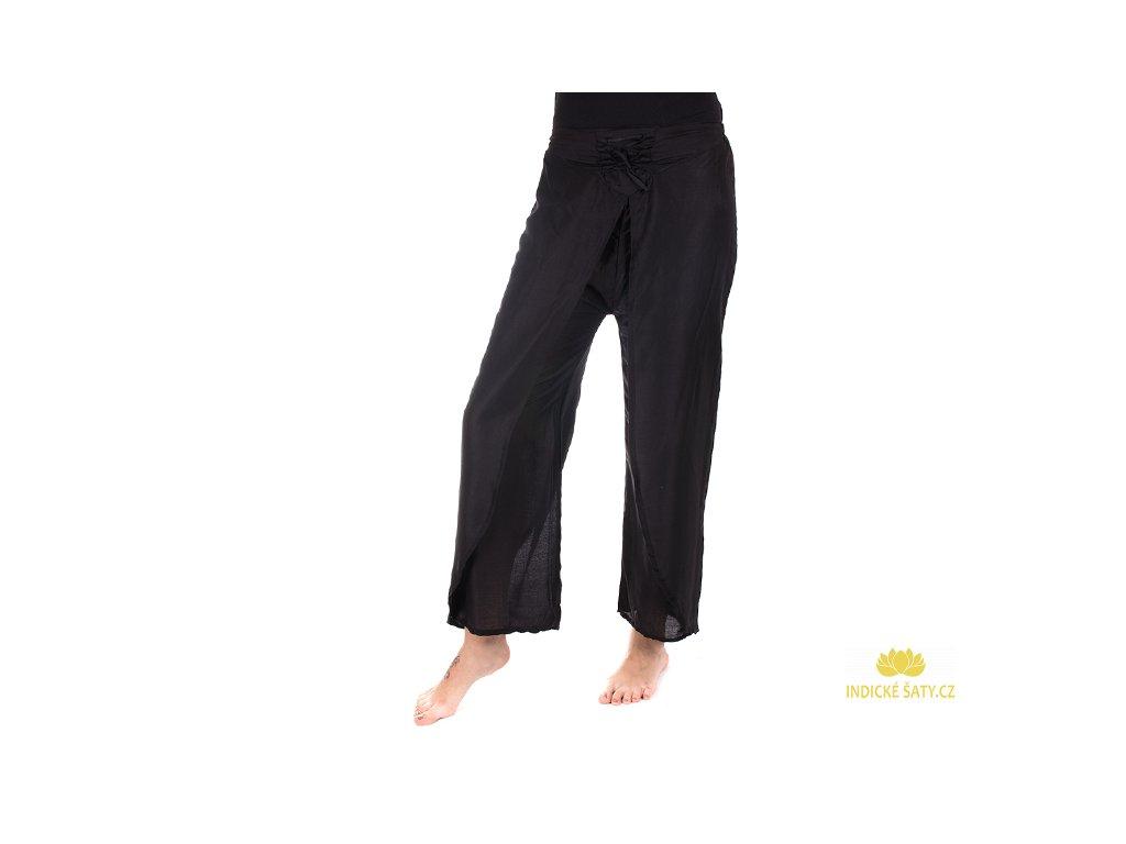 zavinovací kalhoty z Indie černá